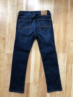 Boys Abercrombie Size 14 The a&f Skinny Fit Jeans NWOT Dark Soft Spandex