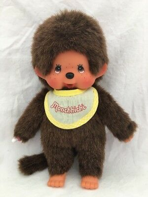 Sekiguchi Europe Holland MONCHHICHI Monkey Plush Doll YELLOW BIB
