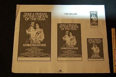 "movie poster-theater ad print--6 GHOST BUSTERS 25""X 19"""