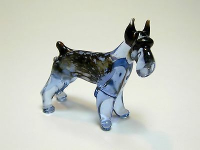 Mittel Schnauzer - Hand Made Art Glass Dog Breeds figurines