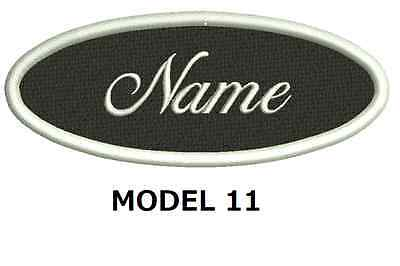 CUSTOM EMBROIDERED NAME PATCH OVAL SHAPE, Sew on patch Quality Badge