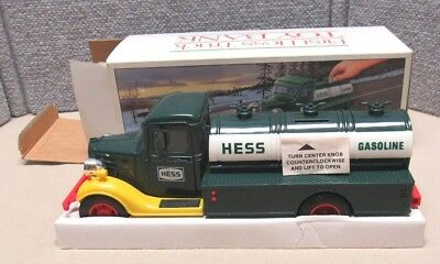 """1985 Hess """"First Hess Truck Toy Bank"""" Very Nice Condition! With Box"""