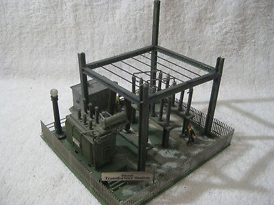 HO Scale CITY POWER STATION Model Power  Building -Weathered and  detailed