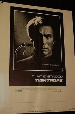 movie poster-theater ad print--TIGHT ROPE--CLINT EASTWOOD-24X18