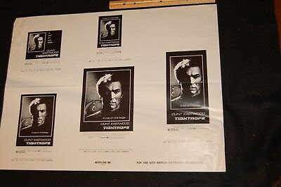 "movie poster-theater ad print--CLINT EASTWOOD-TIGHTROPE--24"" X 18"""