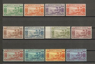 NEW HEBRIDES (FRENCH) 1938 SG F52/63 MNH Cat £300