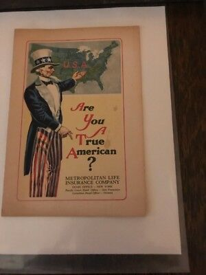 1923 Booklet - Are You A True American ? - Metropolitan Life Insurance Co.