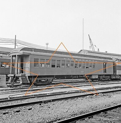 EL ERIE 425 Passenger Car at Hoboken NJ 1972 Original 120 Square B&W Negative