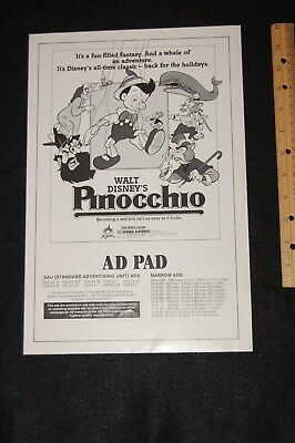 movie poster-theater ad print PINOCCHIO--15X10