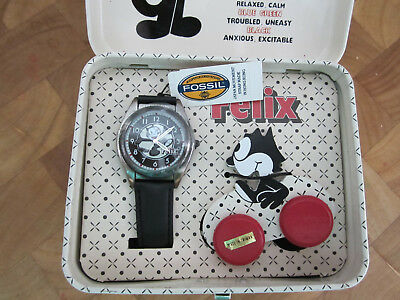 """Felix The Cat """"Fossil Watch"""" Limited edition """"Mood Watch"""""""