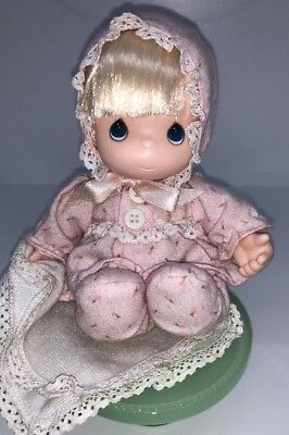 """1992 Roseart My First Precious Moments 6"""" Vinyl Baby Doll Nursery Pajamas Outfit"""
