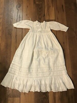NWT Infant Girls Christening Gown-100% Cotton 0-6 Months-Powell-Craft Ltd