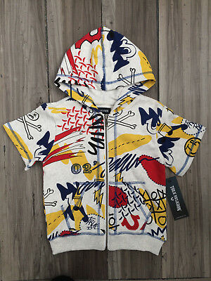 True Religion Boys Doodle Printed Hoodie Multi Color Size Toddler 4 Nwt $69.00