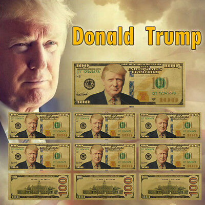 WR 10x US President Donald Trump Gold Foil Banknote Novelty Bill Keep Great 2020