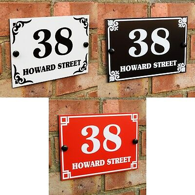 House Door Gate Number Plaque Wall Sign Name Plate Aluminium