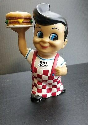Bob's BIG BOY Vinyl Plastic 1999 Vintage Coin Piggy BANK Hamburger Restaurant