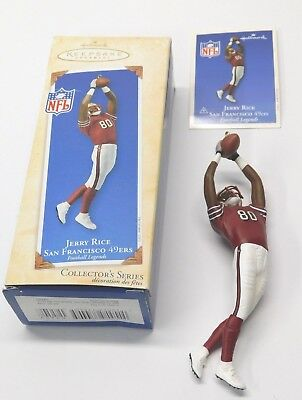 Hallmark Keepsake Ornament 2003 Jerry Rice #9 Football Legends **FREE SHIPPING**