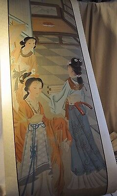 JAPANESE HANGING SCROLL ART Painting Asian antique women