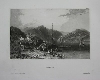 1840 - Ithaca New York USA America Amerika Stahlstich engraving