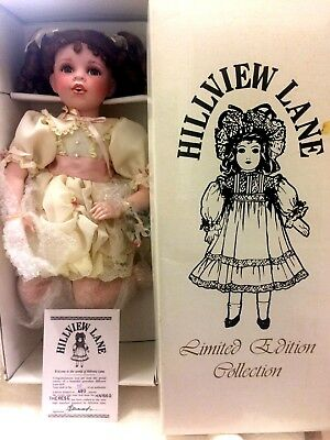 Hillview Lane Therese Porcelain Doll Limited Edition with Certificate & Box