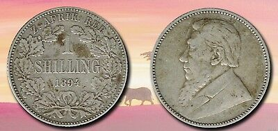 SOUTH AFRICA:- Boer Republic ..Silver 1 shilling coin dated 1892. AP6549