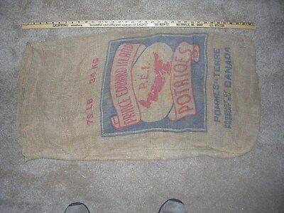 Vintage potato burlap bag - Prince Edward Island.