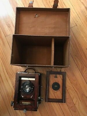 Korona View 4x5 Camera with Zeiss Tessar Lens - includes case and back rail!