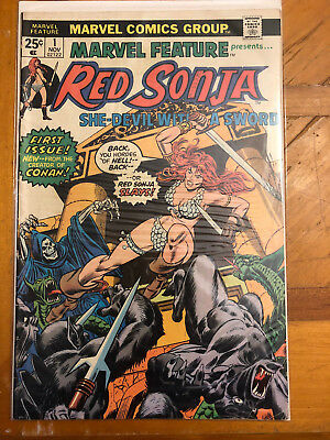 Marvel Feature Presents Red Sonja #1 & #2.  Lot of 8 Comics
