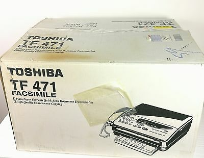 Toshiba Facsimile FAX Machine TF471 New in Box HTF