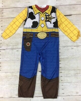 Disney Toy Story Woody Costume Toddler Boys Jumpsuit Costume 3T/4T No Hat