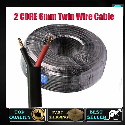 Sold By Per Meter, 6mm Twin Core Cable Sheath Wire Caravan Trailer Solar Panels