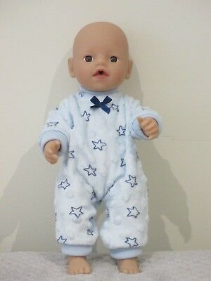 """Jumpsuit suitable for   13""""Little Baby Born  doll """" Blue Minkee Star""""  """"SPECIAL"""""""