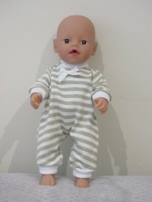 """Jumpsuit suitable for   13""""Little Baby Born  doll """" Stripes"""" SPECIAL"""