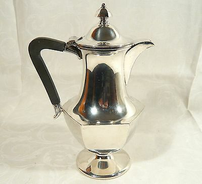Antique  Meriden B Britannia HOT WATER Tea Pitcher Pot Silver PLate  circa  1890