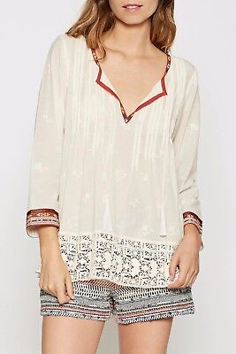 ddc9daec6dc1ab JOIE NWT 238.00 Gustavie Embroidered NATURAL100% Cotton Blouse Size XSmall