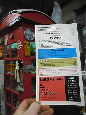 Red Telephone box phone booth sign FREE POSTAGE & POSTED SAME DAY!