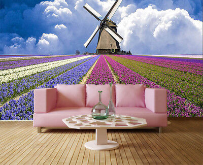 Jolly Pulpy Violet 3D Full Wall Mural Photo Wallpaper Printing Home Kids Decor