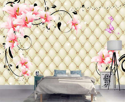 Soft Pulpy Violet 3D Full Wall Mural Photo Wallpaper Printing Home Kids Decor