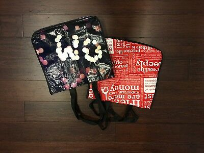 Lululemon Shopping Bags ( 4 total ) Red and Black Limited Edition