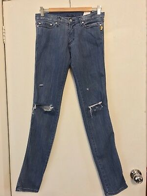 Bettina Liano Vintage Ripped Blue Jeans Size 28