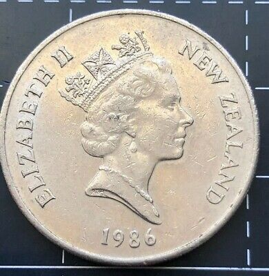 1986 New Zealand 20 Cent Coin