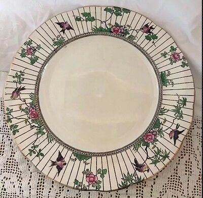 Antique BOOTHS Silicon SPRINGTIME China DINNER PLATE 1 Of 12 Available