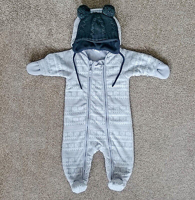 463a2ecec H M BABY FLEECE all-in-one suit Pramsuit Snowsuit   4-6 Months and ...