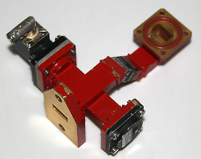 microwave crossguide coupler WR 62 Ku-band highest quality  with detector
