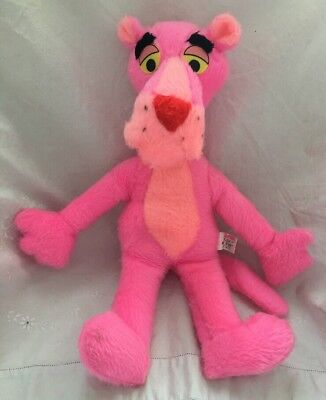 """1980 Vintage Mighty Star Canada Plush PINK PANTHER Stuffed Toy Doll 16"""""""