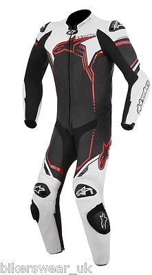 Alpinestars GP PLUS SUIT White/Black/RED 123 One Piece Leather Motorcycle Suit
