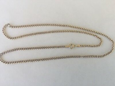 Solid 9ct Gold Italian Curb Link Chain NECKLACE 46cm..from Prouds...