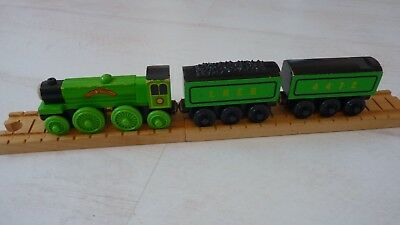 Thomas Friends Flying Scotsman Rare 2001 Learning Curve Wooden Railway Train