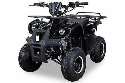MIDI Kinder Pocket Quad ATV S-8 125 cc Farmer Kinderquad Schwarz