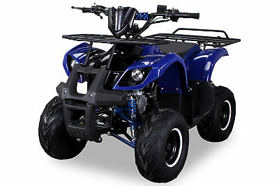 MIDI Kinder Pocket Quad ATV S-8 125 cc Farmer Kinderquad Blau